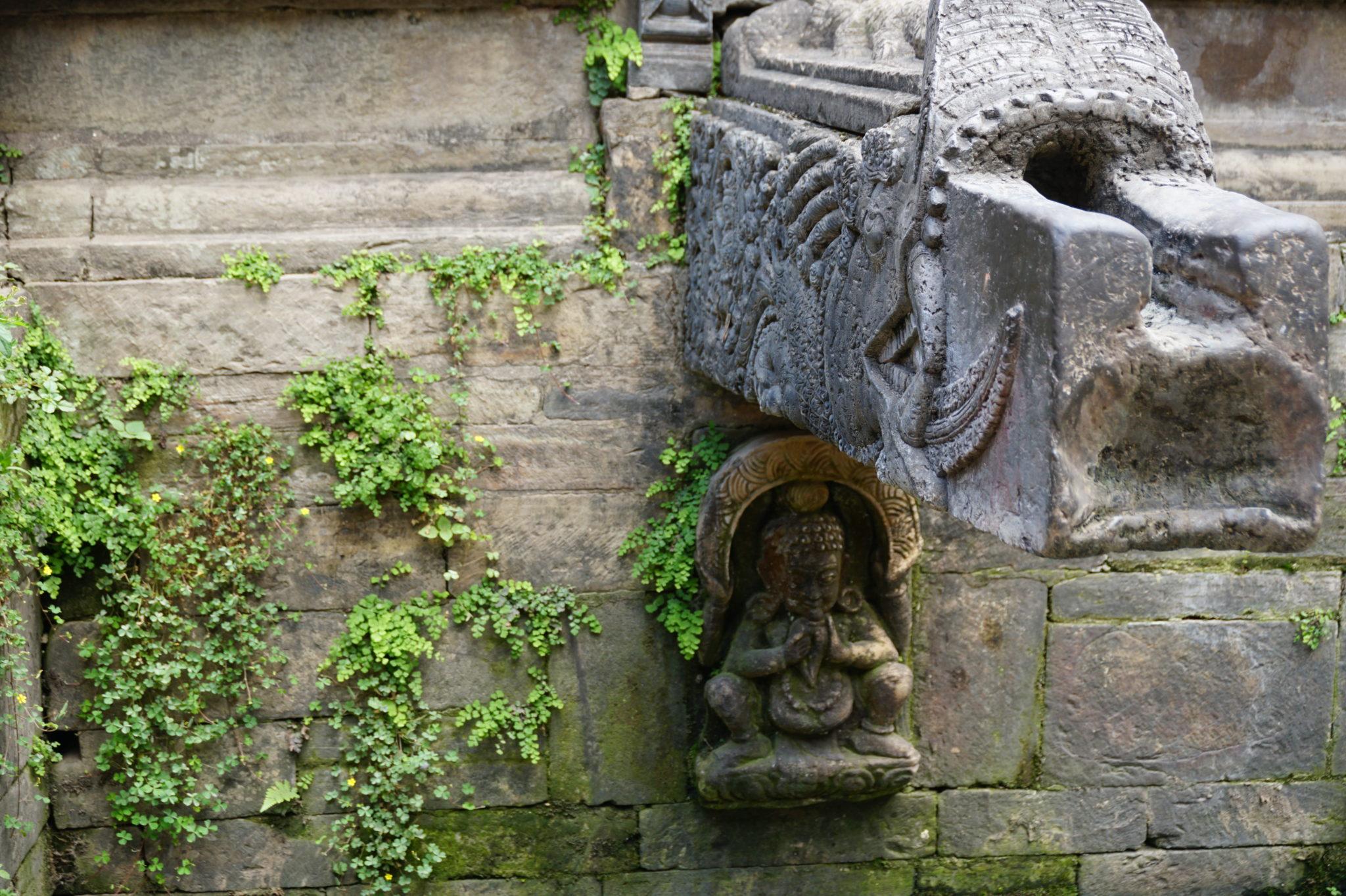 Wasser-Zisterne in Kathmandu