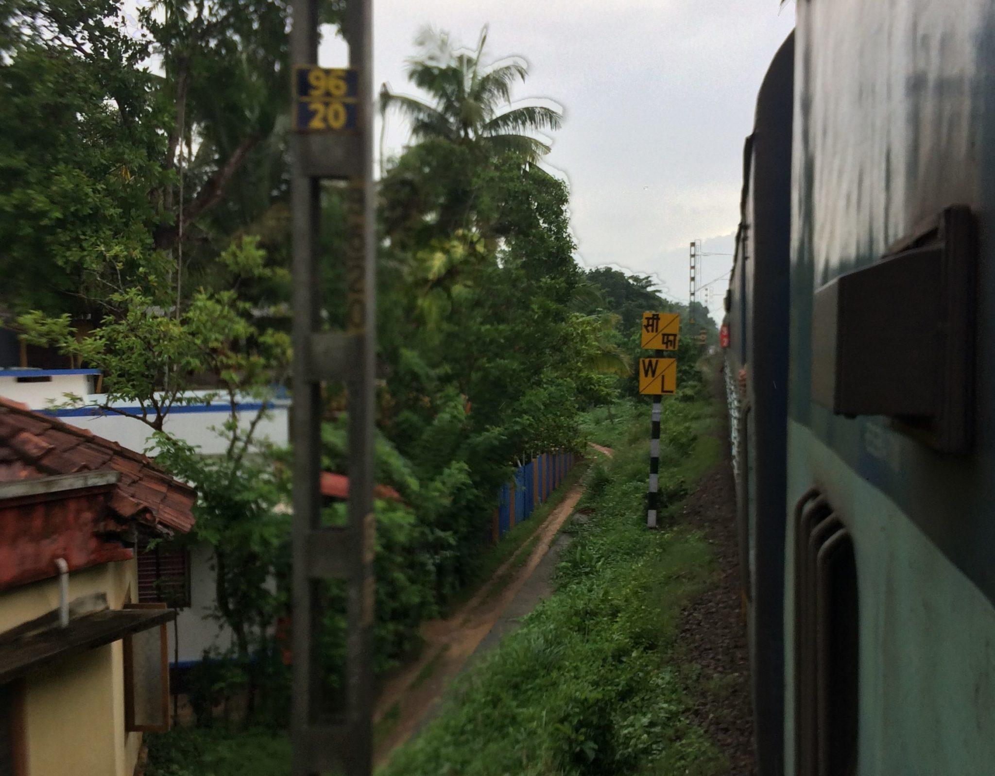 Aussicht aus dem Zug von Agra nach Goa