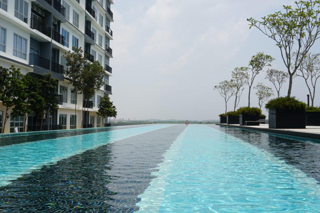 50m-Schwimmbahn im BSP21-Wohnkomplex nahe Kuala Lumpur.