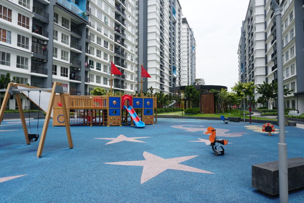 Raketen-Spielplatz im BSP21-Wohnkomplex nahe Kuala Lumpur.