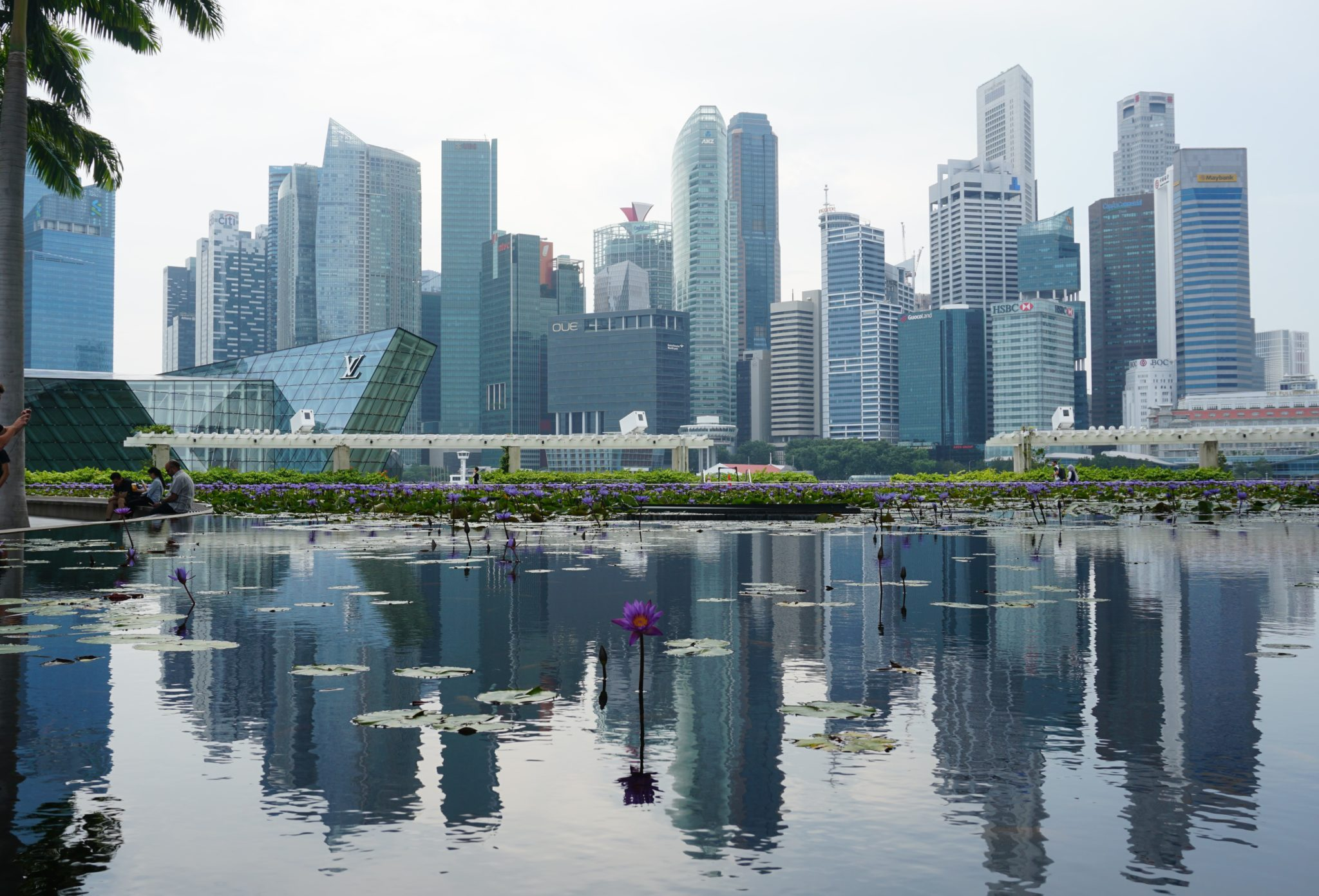 Beeindruckende Skyline von Singapur