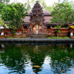 Foto eines Tempels in Bali