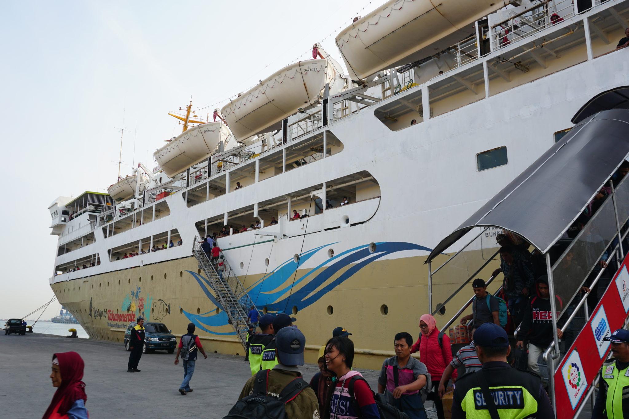 Schiff von Batam nach Jakarta