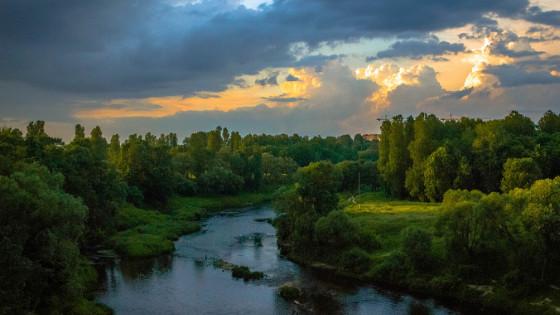 Foto eines Flusslaufes
