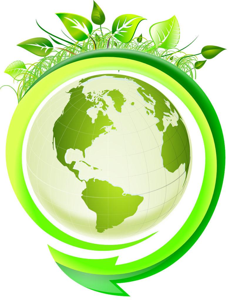 Vektorgrafik: Grüne Erde