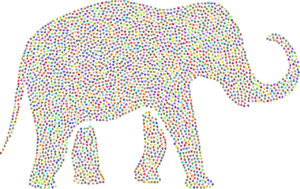 Illustration: Bunter Elefant