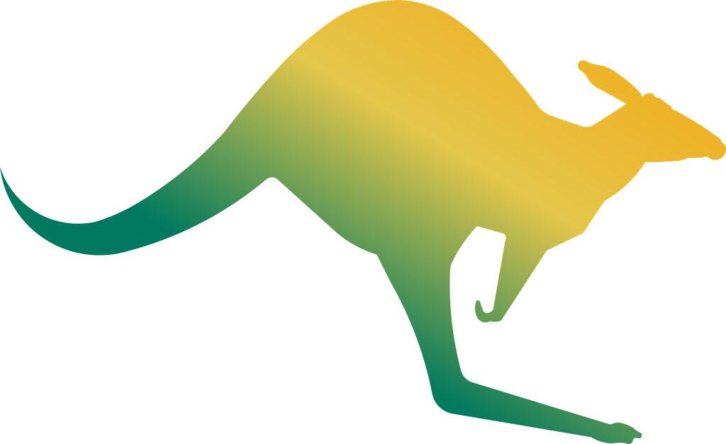 Illustration eines Kängurus
