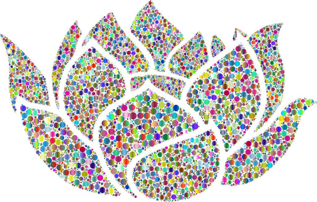 Illustration: Bunte Lotusblume