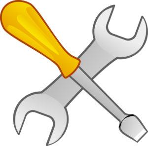 Illustration: Mechaniker-Symbol