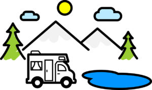 Illustration: Camper-Van unterwegs