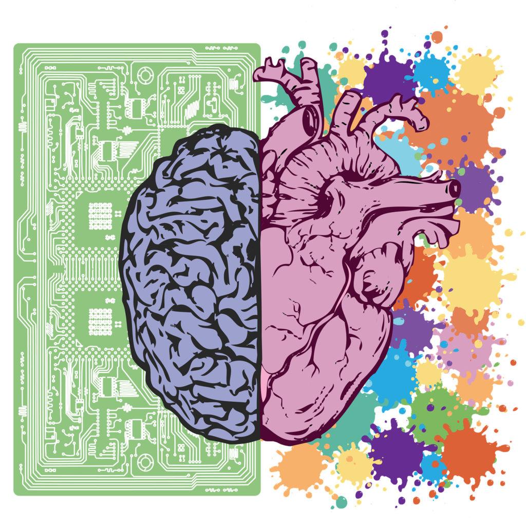 Illustration: logische und kreative Hirnhälfte