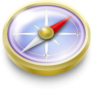 Vektorgrafik Kompass
