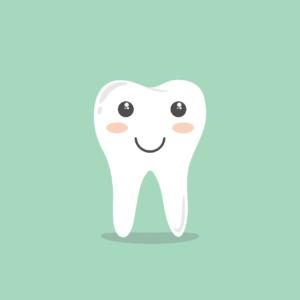Vektorgrafik glücklicher Zahn