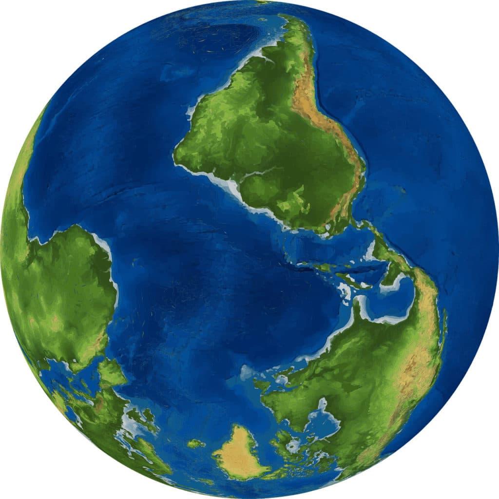 Vektorgrafik: Die Erde ist Upside Down in Down Under