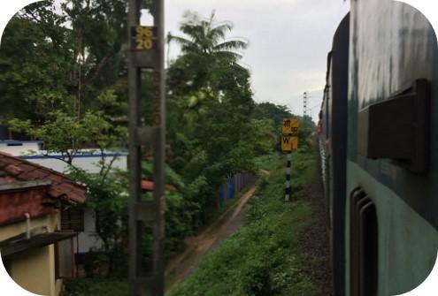 Aussicht aus Zug in Indien