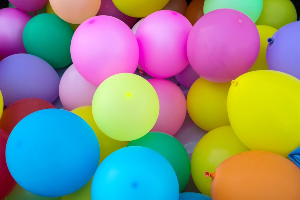 Selfmade Poem in English - Happy Birthday and many balloons for you, Bruce!