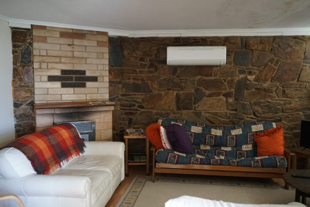 Wohnzimmer des Ferienhauses bei unserem Kurzurlaub auf Kangaroo Island