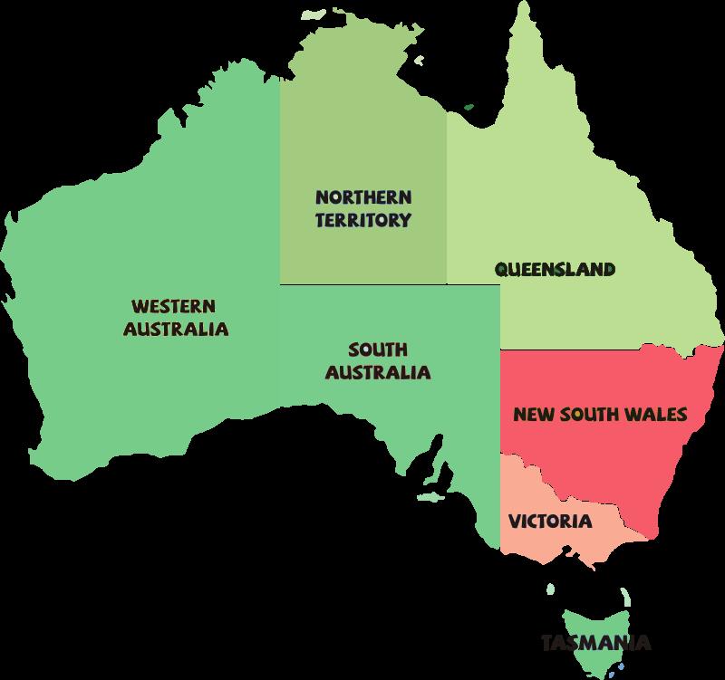 Australien Corona-Karte: Lockdown in Victoria