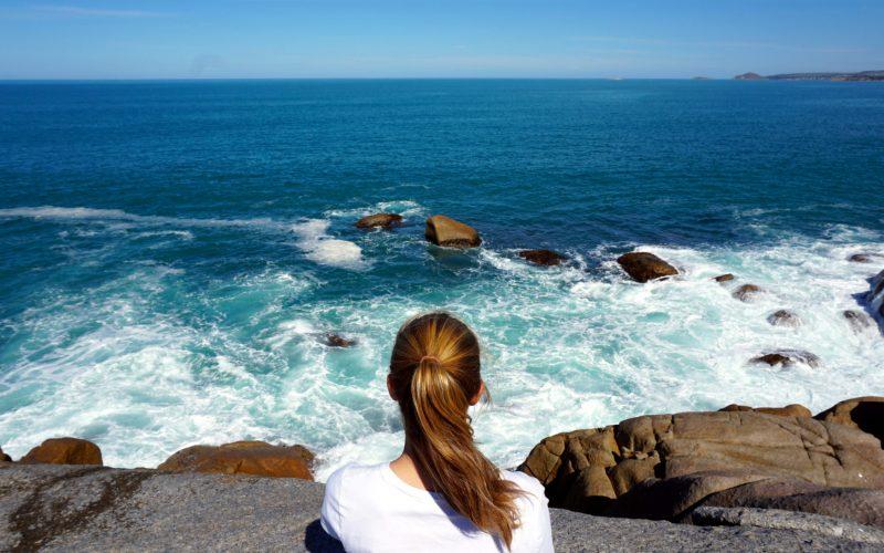 Foto von Mona am Meer an ihrem Geburtstag in Australien
